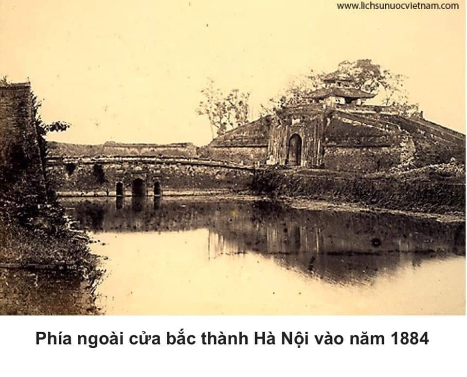 The northern gate of Hanoi citadel in 1884