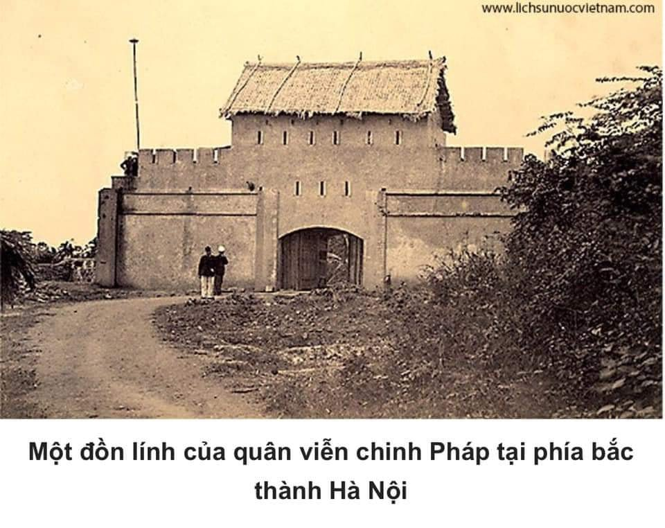 A French military post in north Hanoi citadel